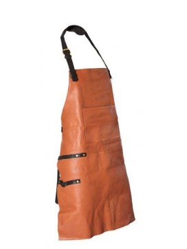Bon Goût Forklæde i læder, cognac-20