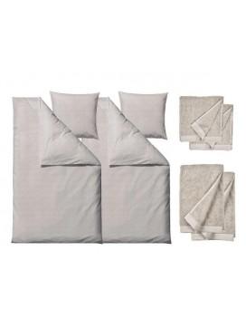 Södahl Sengetøj Chambray nature 200 cm med håndklæder, Comfort-20