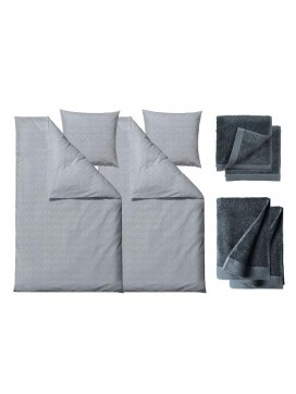 Södahl Sengetøj Chambray blue 220 cm med håndklæder, Comfort-20