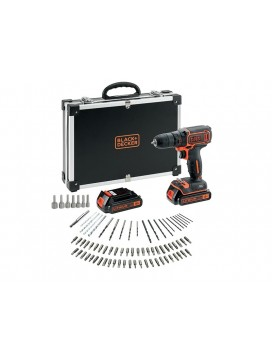 Black and Decker 18V Boremaskine, 2 batterier, 80 dele-20