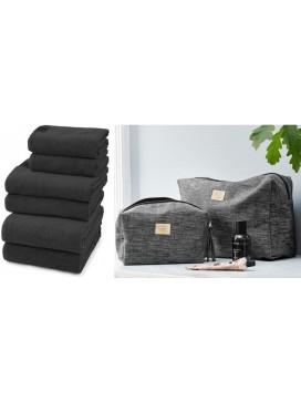 Georg Jensen Damask De Luxe Håndklædepakke + Toilettaske og Kosmetikpung-20