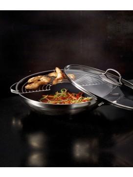 Rösle Style Wok med glaslåg og rist-20