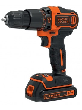 Black and Decker 18V Slagboreskruemaskine med lader og kuffert-20