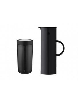 Stelton Kaffesæt EM77 Termokande og To Go Termokop-20