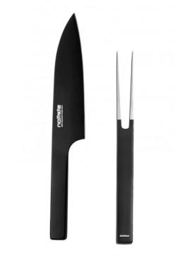 Stelton Pure Black forskærergaffel og kokkekniv sæt-20